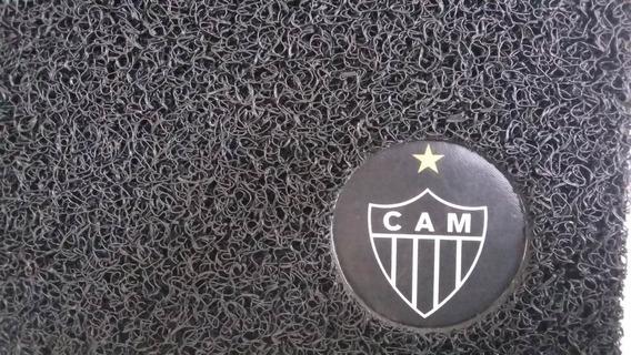 Tapete Atlético Mineiro - Capacho Vinil 60x40cm Preto