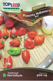 80 Sementes De Pimenta Habanero Red Vermelha Frete Grátis