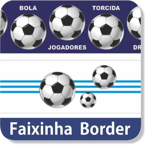 06 Faixas Adesivas Parede Border Esporte Futebol Soccer Gol