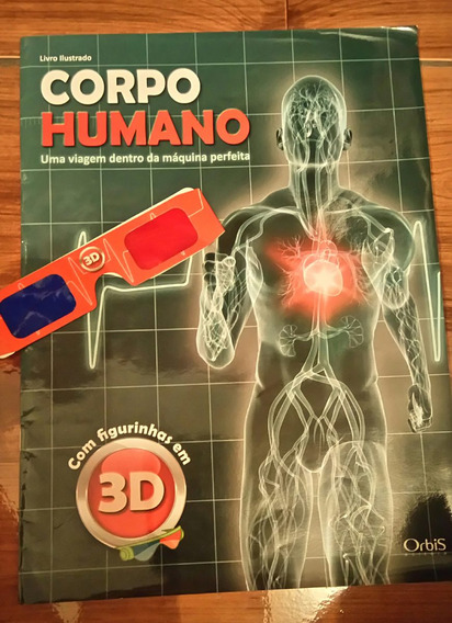 Album Ilustrado Corpo Humano Em 3d. Com Oculos Incluso