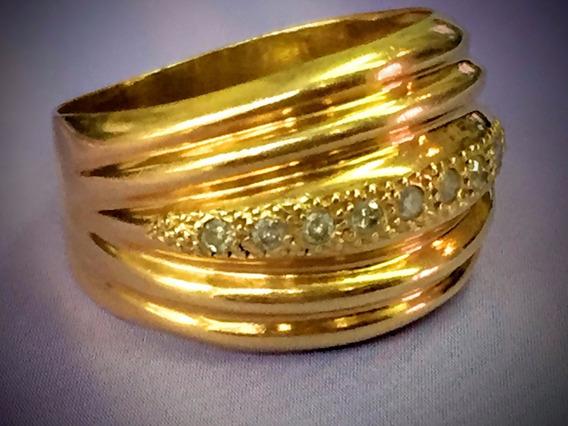 Ane Ouro 18k-4.4 Gr.c/brilhantes-aro 17.