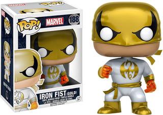 Funko Pop Iron Fist Gold And White Costume Marvel
