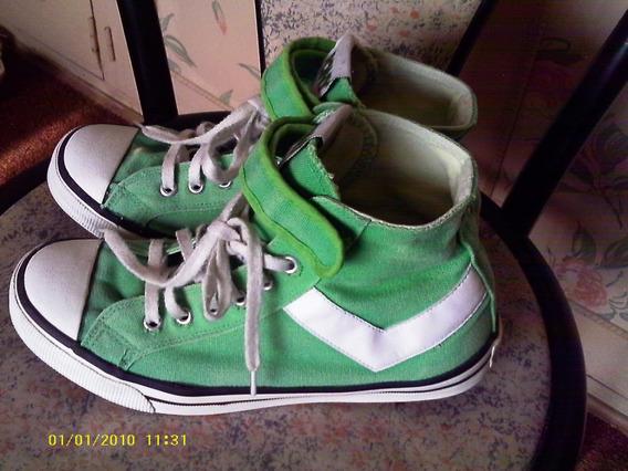 Pony Zapatillas-botas (originales) Lona Verde N° 38 Unisex-hermoso Color Y Muy Original- Marca Original- Muy Cancheras