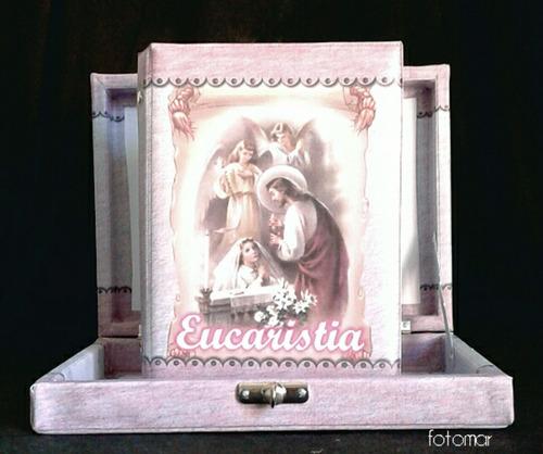 Álbum  Primeira Eucaristia  80 Fotos C/ Estojo