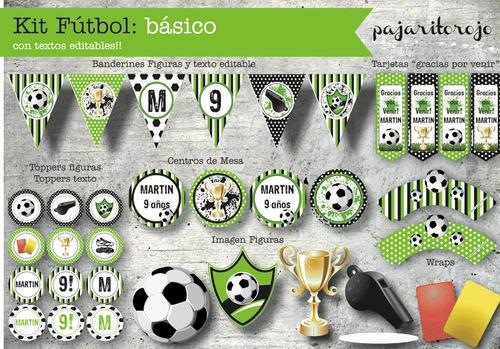 Kit Imprimible Futbol Verde
