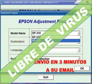 Reset Epson Xp320, Xp330, Xp340, Xp424, Xp520, Xp600,xp810