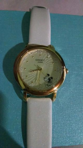 Relógio Disney Com Mickey. Pulseira Branca. Importado.