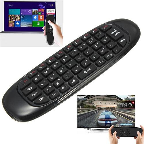 Teclado Y Air Mouse Inalambrico Bluetooth, Smart Tv Y Pc