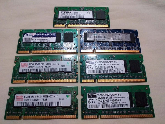 Memorias Sodimm 512mb Ddr2 533 Y 667