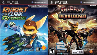 Ratchet & Clank Qforce + Ratchet Deadlocked Ps3