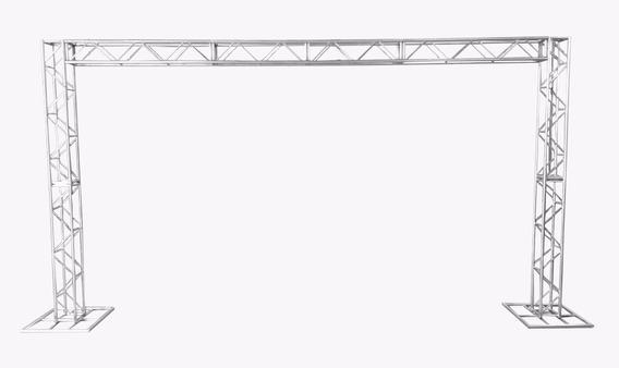 Treliças Kit Trave Box Truss Q25 Aço 3x5m - Lourenço