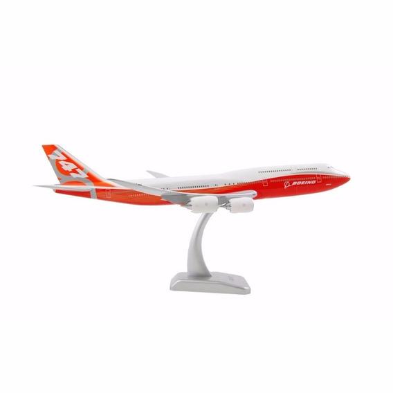 Miniatura Aviao Boeing 747 Em Metal 16x15 C/pedestal Acrilic