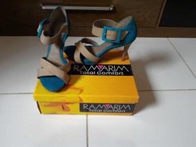 Sandalia De Salto Alto - Marca Ramarim - Usada