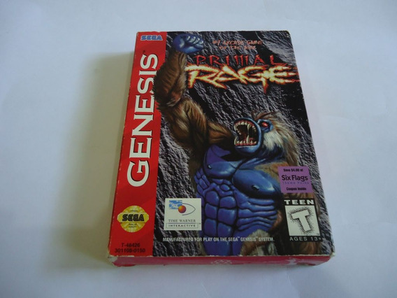 Primal Rage Completo Americano Para Mega Drive