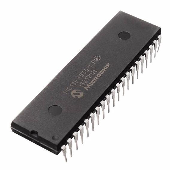 Microcontrolador Pic18f4550 I/p Dip40 Microchip