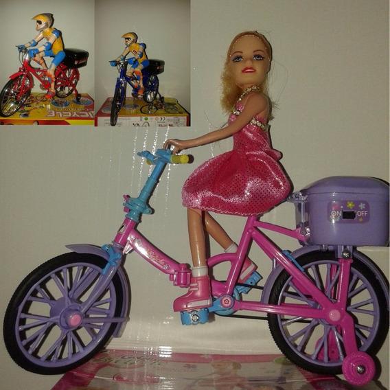 Boneca Na Bicicleta E O Ciclista Brinquedo Promoção Da Hora!