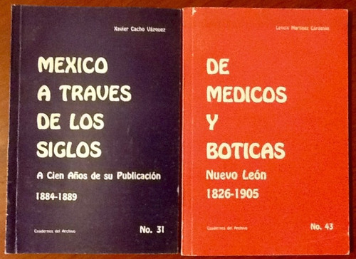 De médicos y boticas - Nuevo León, 1826-1905