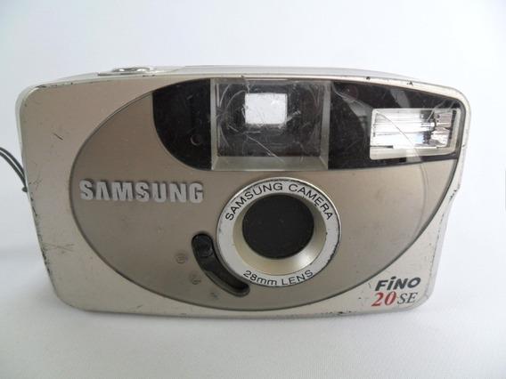 Câmera Máquina Fotográfica Antiga Samsung Fino 20 Se Coleção