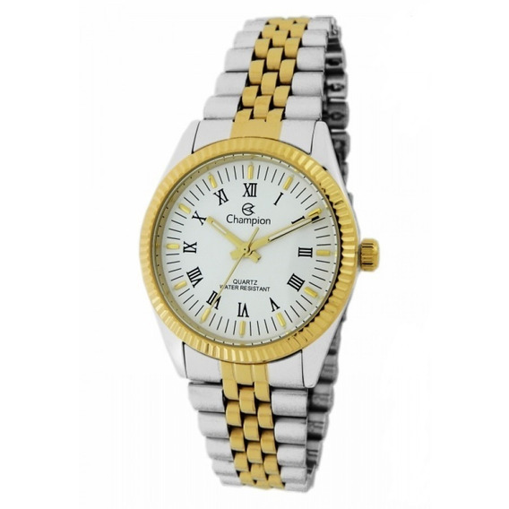 Relógio Champion Masculino Dourado / Couro - Ch22859b.