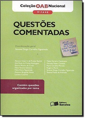 Livro Questões Comentadas Coleção Oab Nacional