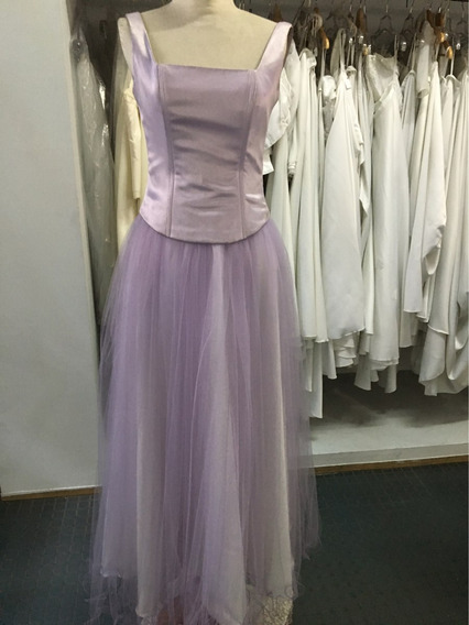 Vestido De 15 Años Corset Y Falda De Tul Color Lila Lavanda