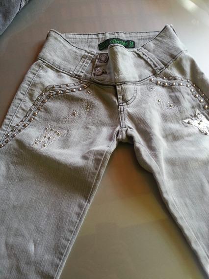 Calça Jeans Atrevida Tamanho 34!!