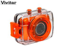 Câmera Filmadora Hd Vivitar Dvr Hd Prova Água Acessórios