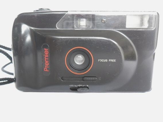 Câmera Máquina Fotográfica Antiga Premier T 90 Aw Coleção
