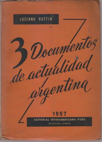 3 Documentos De Actualidad Argentina. Luciano Rottin