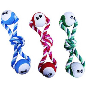 Brinquedo Para Cachorro Corda Com Bolas Resistente