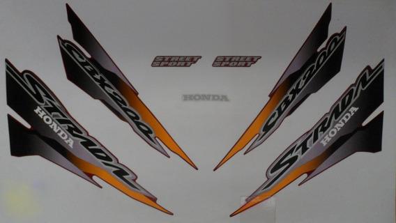Kit Adesivos Honda Cbx 200 Strada 2001 Preto