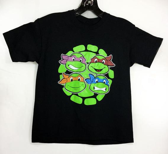 Playera Para Niños Unisex Tortugas Ninja Caras Leo Mikey