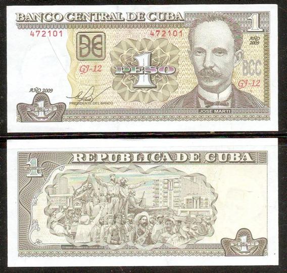 Cuba 2009 José Martí Billete De 1 Peso Impecable S/circular
