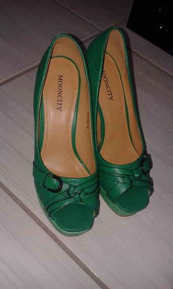 Sapato Peep Toe Mooncity