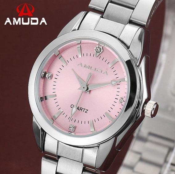 Relógio De Pulso Quartzo De Luxo Feminino Resistente A Água