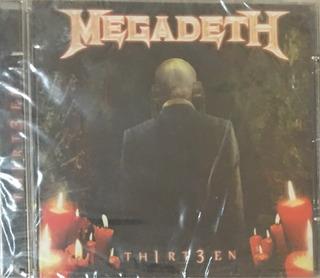 Cd Megadeth Th1rt3en Nuevo Sellado