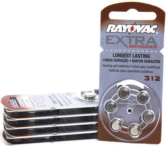 72 Baterias Pilhas Aparelho Auditivo 312 / Pr41 - Rayovac