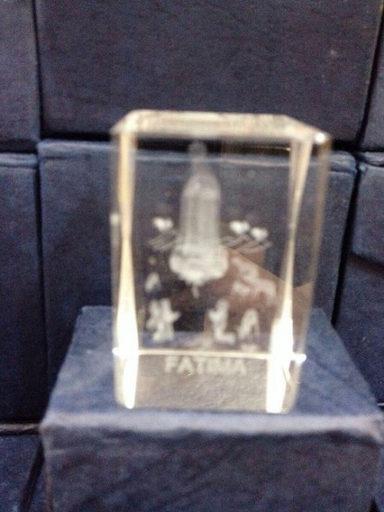 Cubo Em Cristal De Nossa Senhora De Fatima Kit 5 Cubo