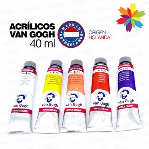 Acrilico Van Gogh 40ml. Todos Los Colores! Barrio Norte....