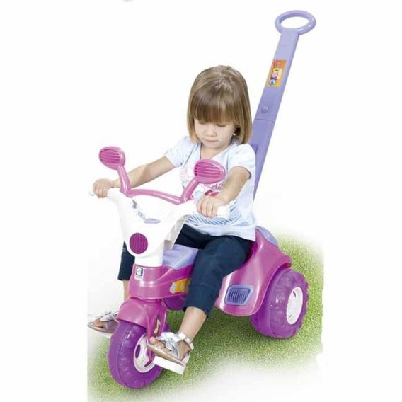 Triciclo Velotrol Baby Music Com Haste - Cotiplás