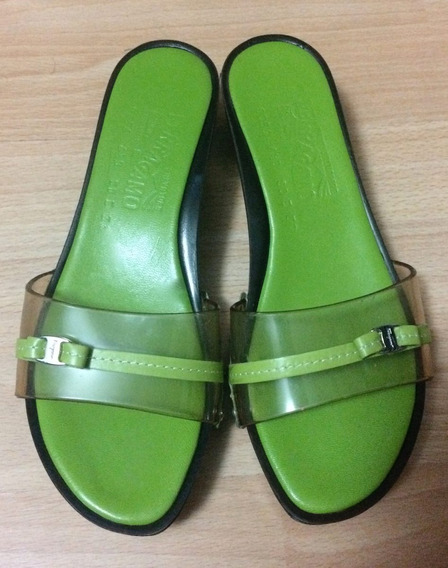 Zapatos Sandalias Salvatore Ferragamo Piel 23.5 Originales!!