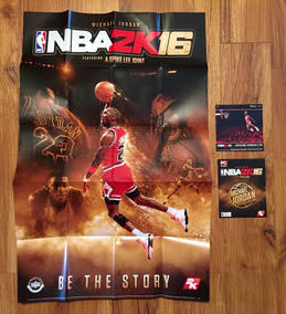 Pôster Nba 2k16 Michael Jordan Edition - Excelente Qualidade