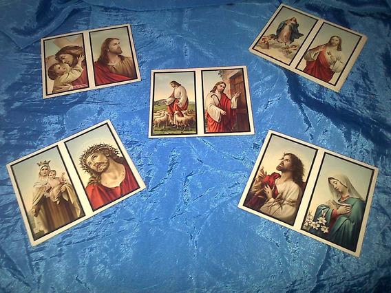 Lote De 180 Estampitas Religiosas Papel Antiguo Sin Imprimir