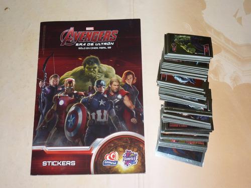 100 Stickers Metalizados The Avengers Era De Ultron Gamesa