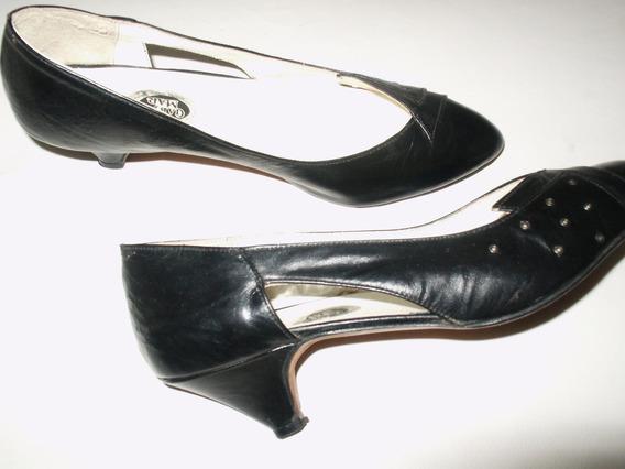 Zapatos Vestir Dama Talle 40 Taco Bajo