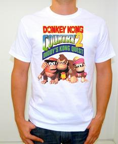 Donkey Kong Country 2 Playera Retro Sublimado Alta Calidad