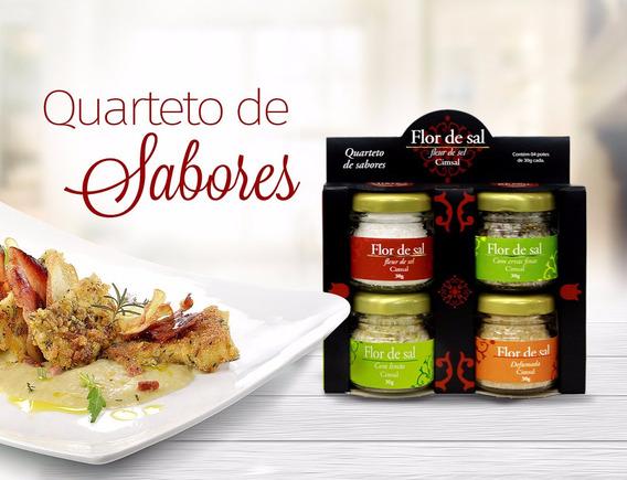 Flor De Sal Cimsal Quarteto De Sabores (kit Com 03 Unidades)