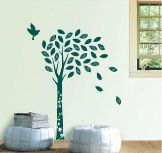Sticker Vinil Decorativo Para Pared Arbol Gamuza 160x100cm