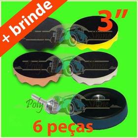 Kit Polimento - Boinas De Espumas + Suporte 3 Polegadas