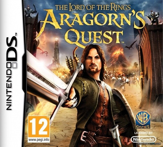 Jogo Nintendo Ds The Lord Of The Rings Aragorn`s Quest Novo